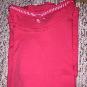 NWOT - Laura Scott 1x Coral T-shirt s/s